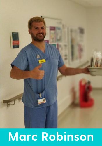 ICU nurse Mark Robinson at work