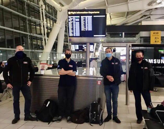 UK EMT Team fly from Heathrow to Armenia