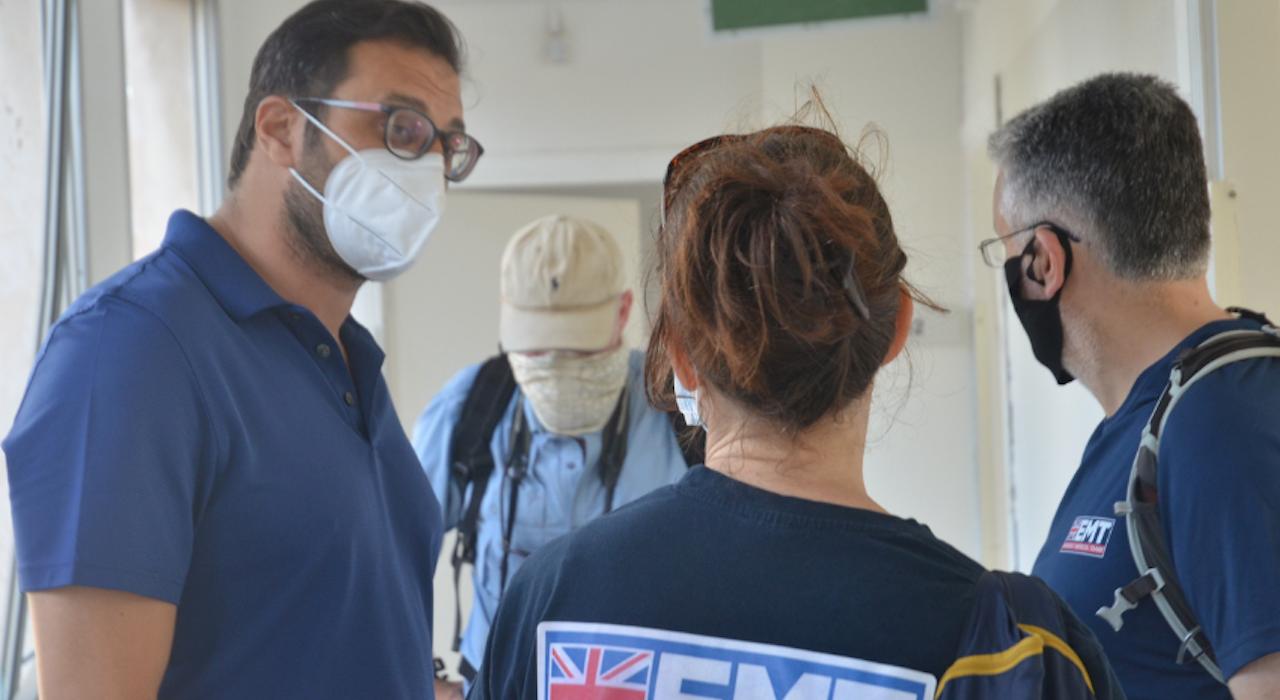 UK-Med Assessment Team visit to Geitaoui Hospital, Beirut. (Ritzau-Reid August 2020)