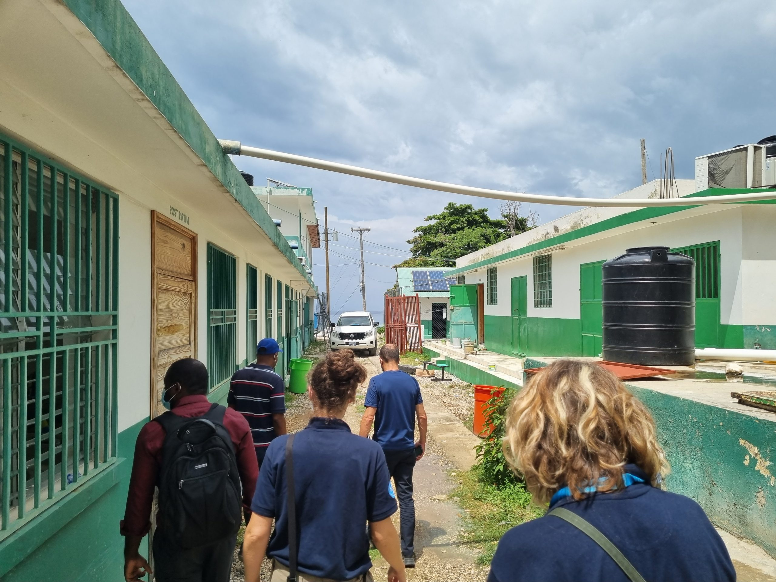 The assessment team as they are led through Haiti following the earthquake.